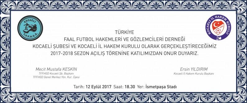 2017 - 2018 FUTBOL SEZONU AÇILIŞ TÖRENİ